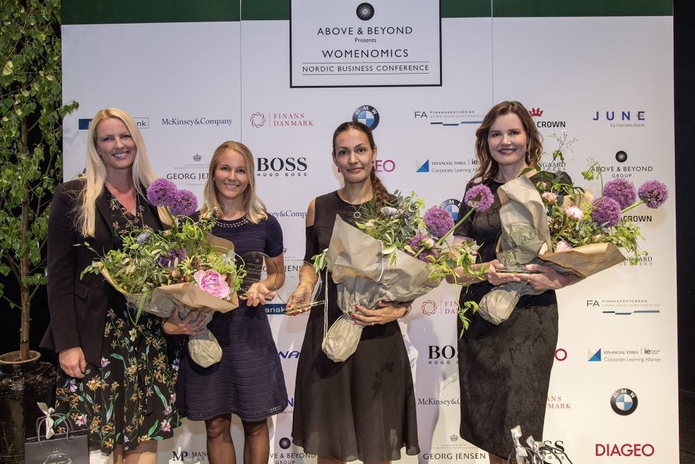 Womenomics Award at the Nordic Business Conference with gender equality activist Geena Davis