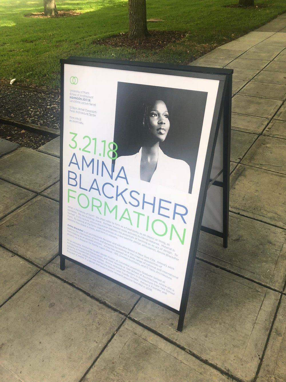 Lecture poster, University of Miami School of Architecture, 2018