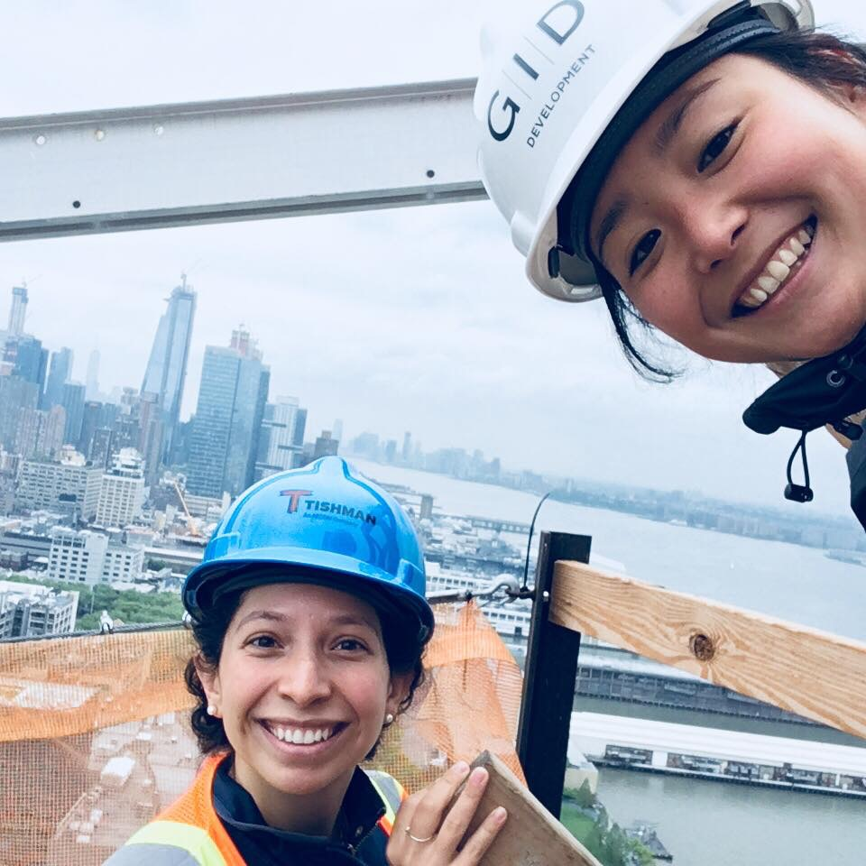 Jin on site with a colleague
