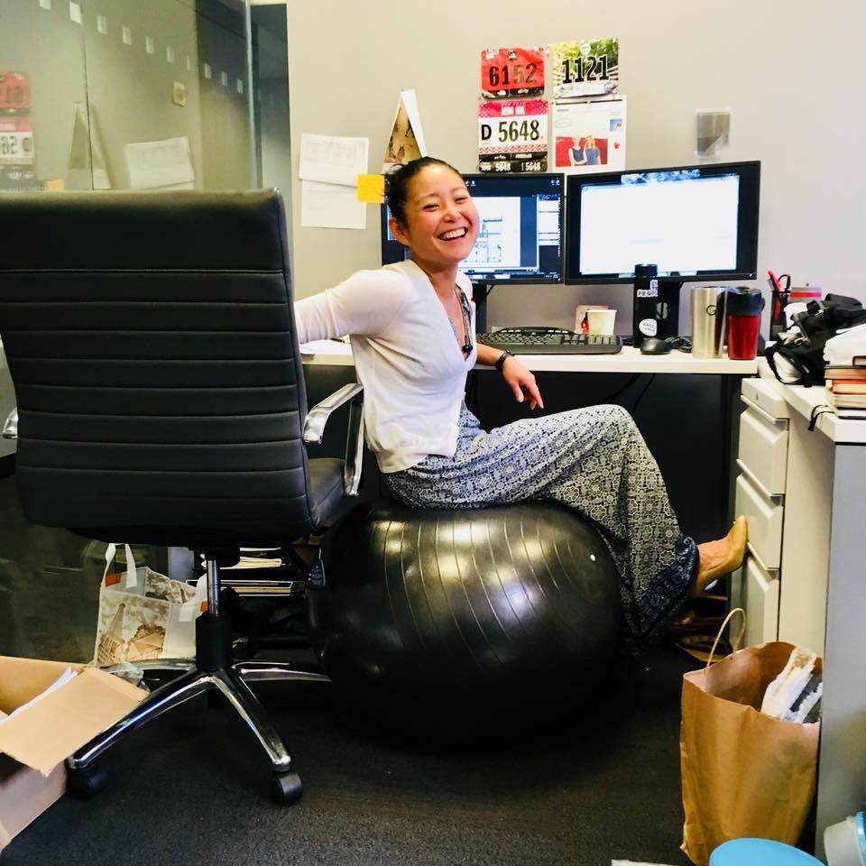 Jin in the office