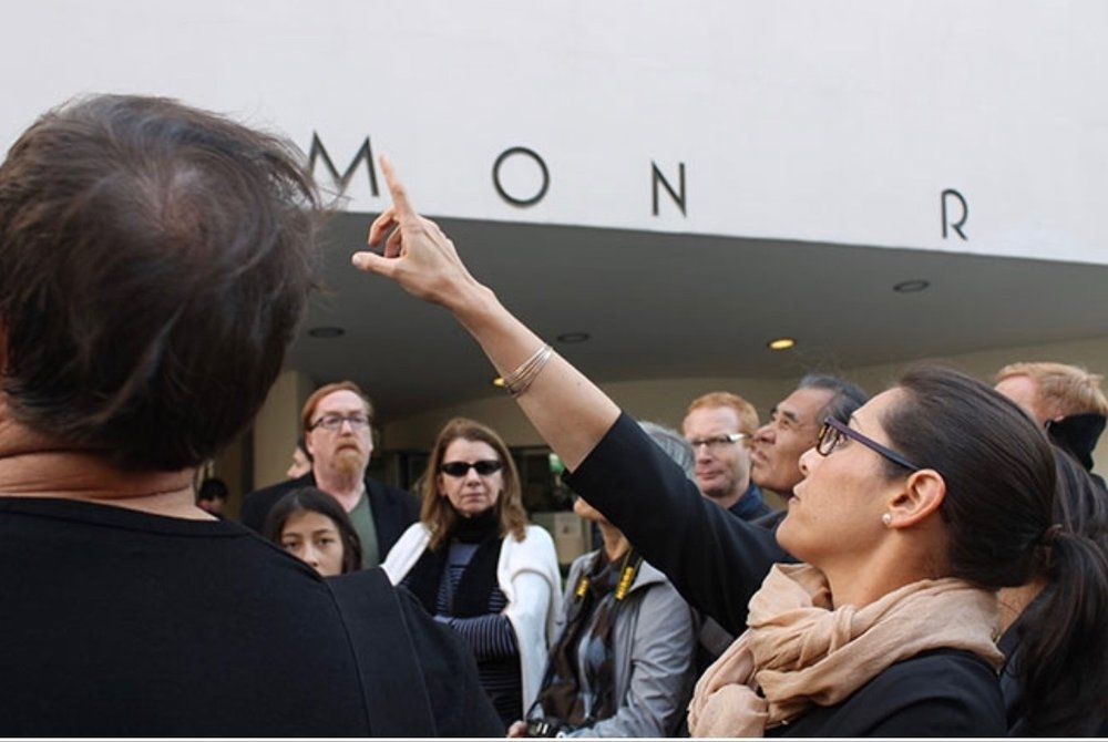 Megan leading an Archtober Guggenheim tour