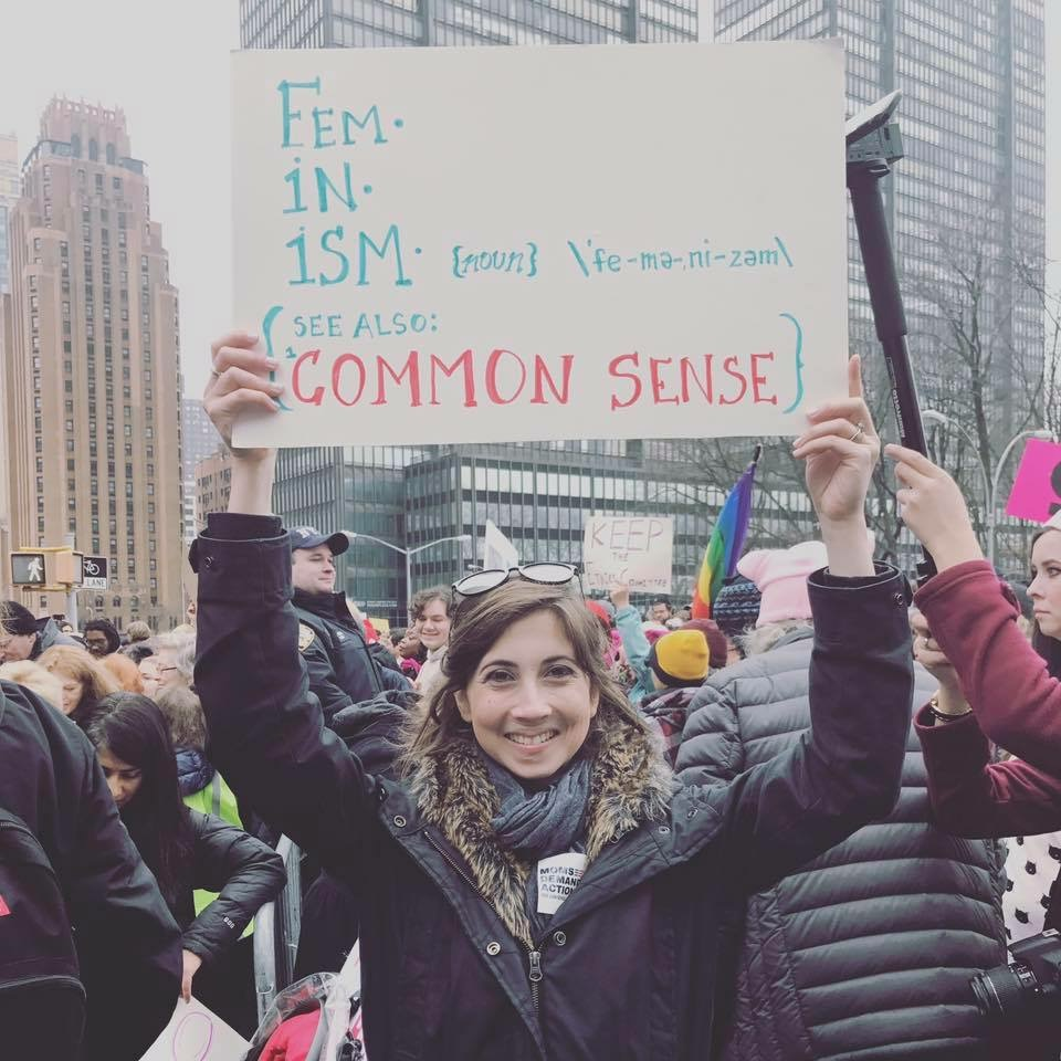Irina at the Women's March