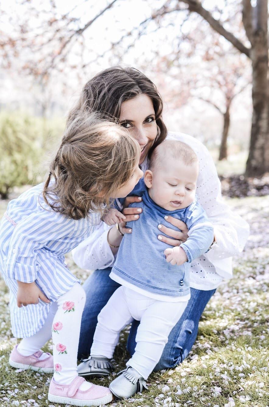 Irina with her two kids