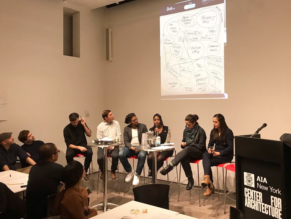 Danei on a panel at the AIA NY Center for Architecture