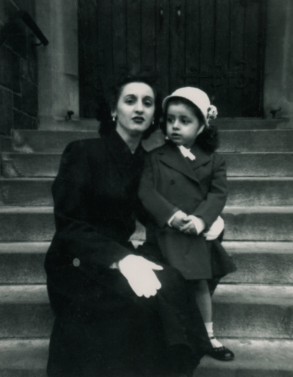 Mary Ann as a little girl with her mother in the Bronx.