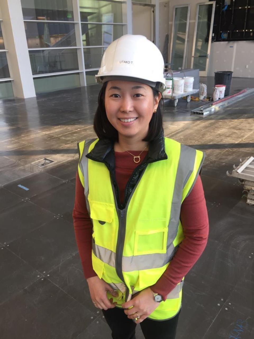 Utako on site in December 2018