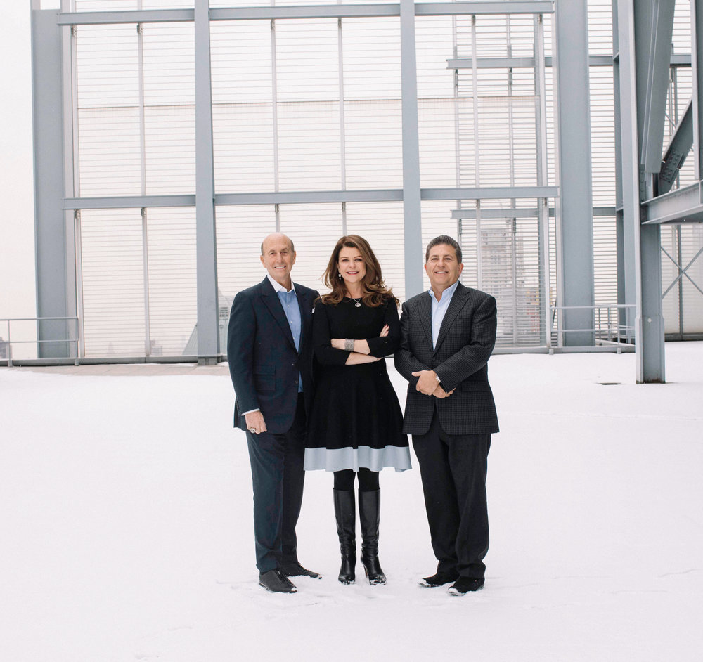 The founders of L&L MAG - David Levinson, MaryAnne Gilmartin, and Robert Lapidus.