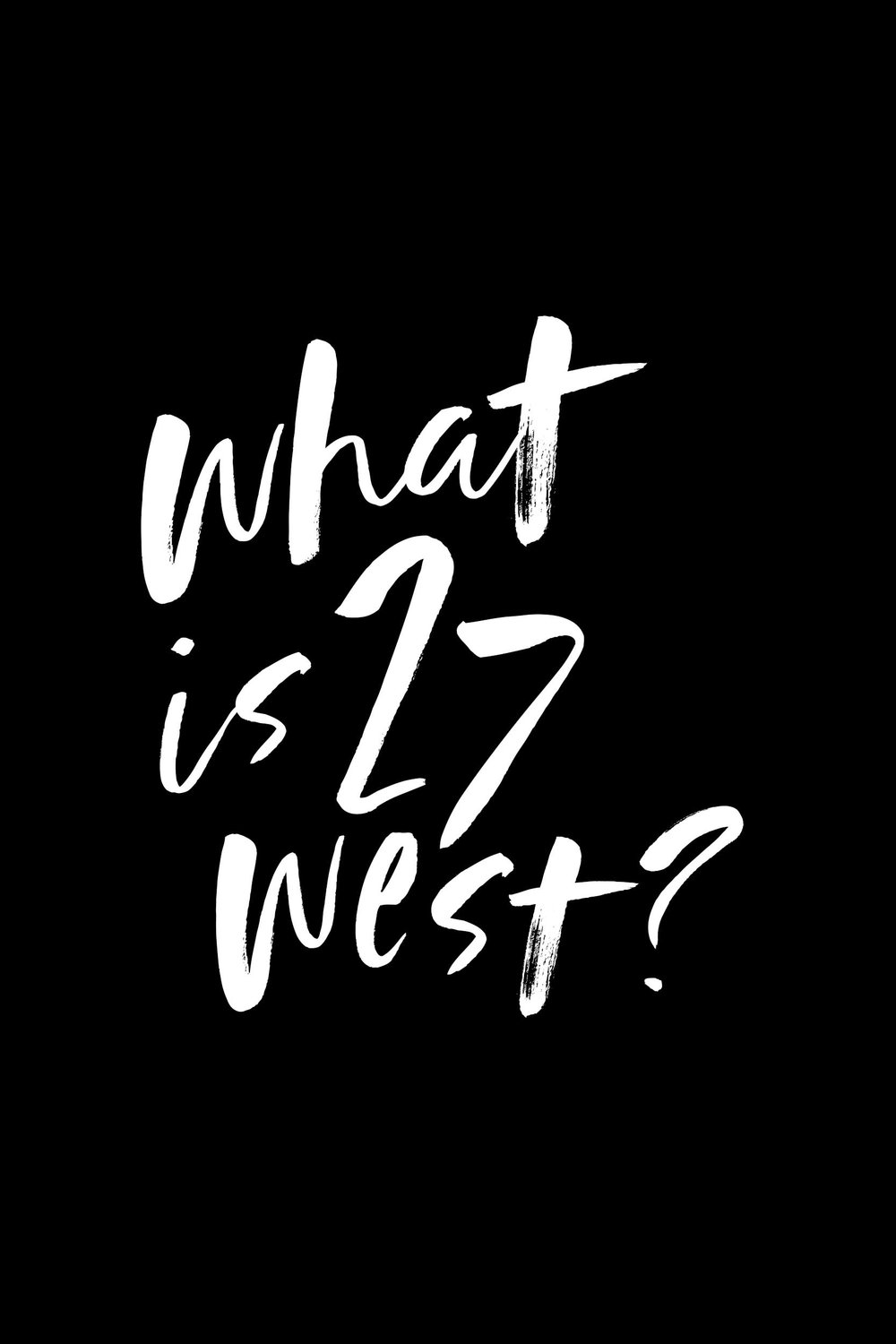 - 27West is a podcast produced by Wheaton Bible Church. We're dedicated to making our large body of Christ, across our three congregations, a little smaller. Join us as we get to know each other! Subscribe! ––>