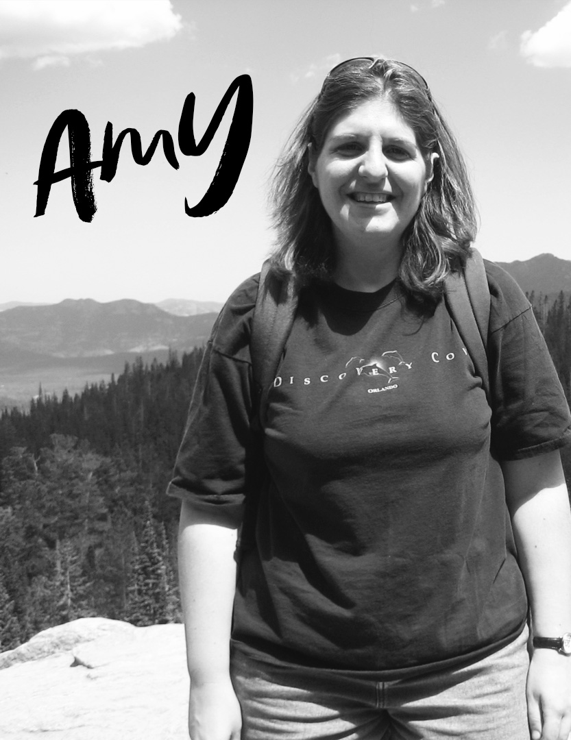 - Amy Mueller is our musical producer. She is the Production Assistant at Wheaton Bible Church, which means she is a musical genius who can create scores on the fly. Her hobbies include hanging out with her dogs, traveling, and learning to play new instruments (she currently knows how to play 7 besides piano and keyboards!).