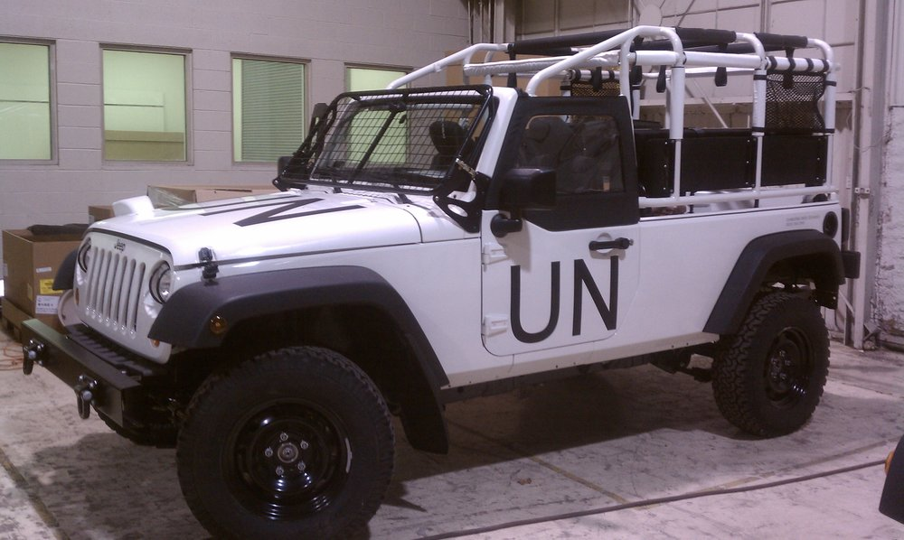 UN Haiti Relief Vehicles