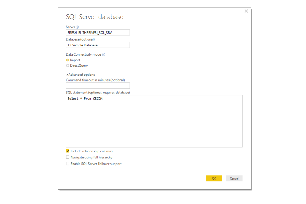 2) Connect to SQL Server: