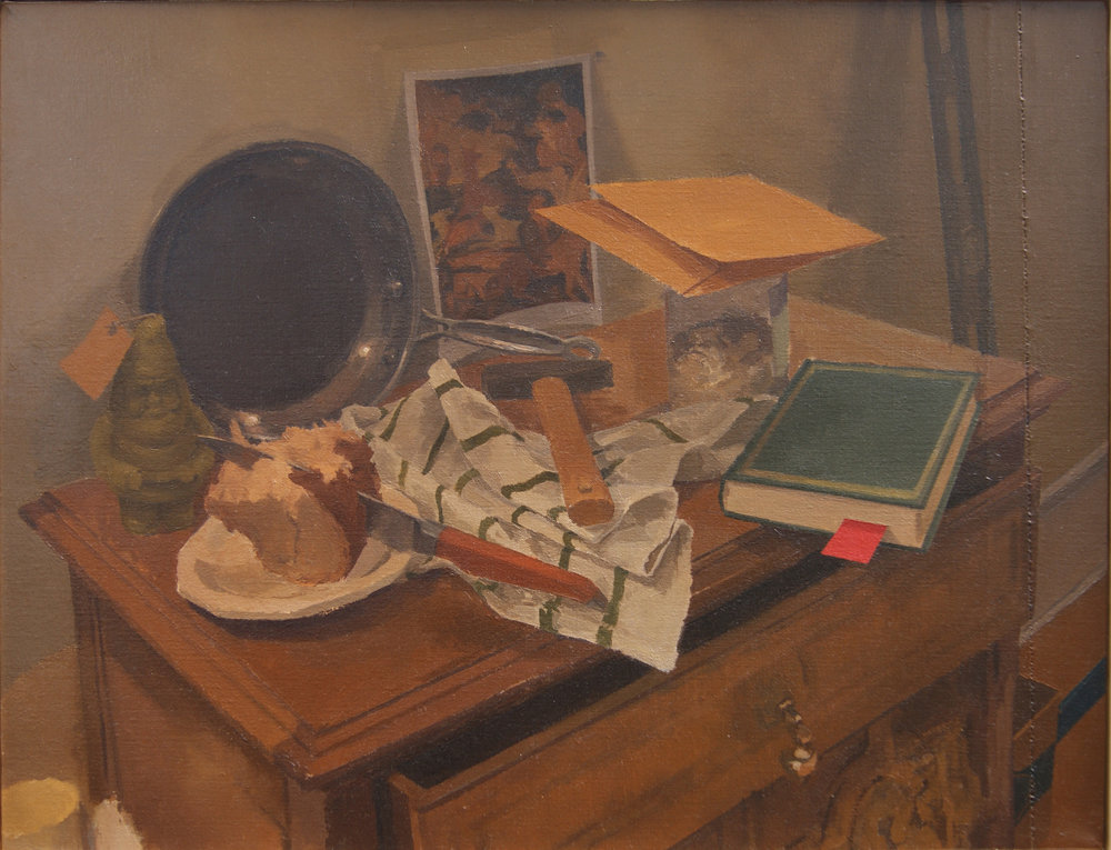 After the Hunt, Oil on Linen, 14%22x18%22.JPG