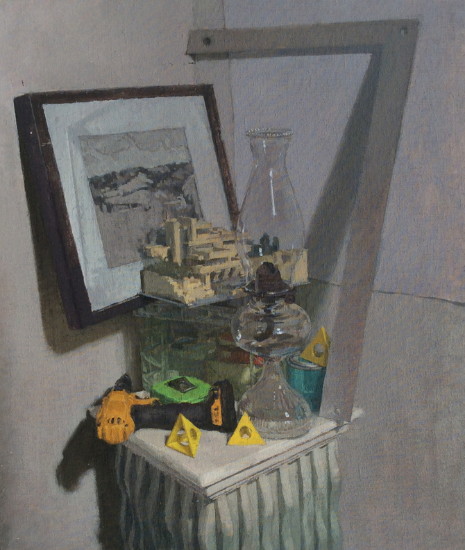 The Architecht, Oil on Muslin on Panel, 14%22x12%22.jpg