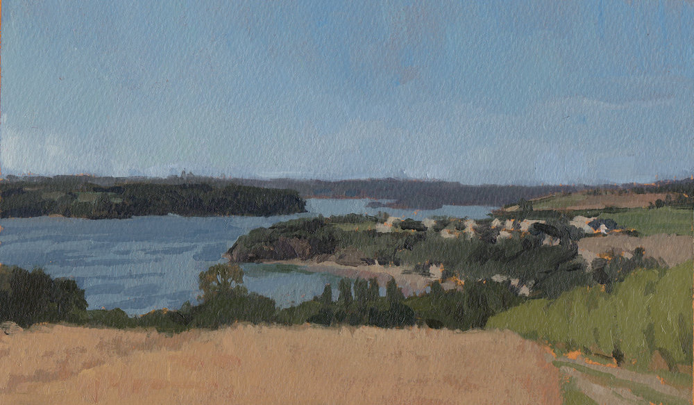 The Breton Coast, Oil on Paper, 6%22x9%22.jpg