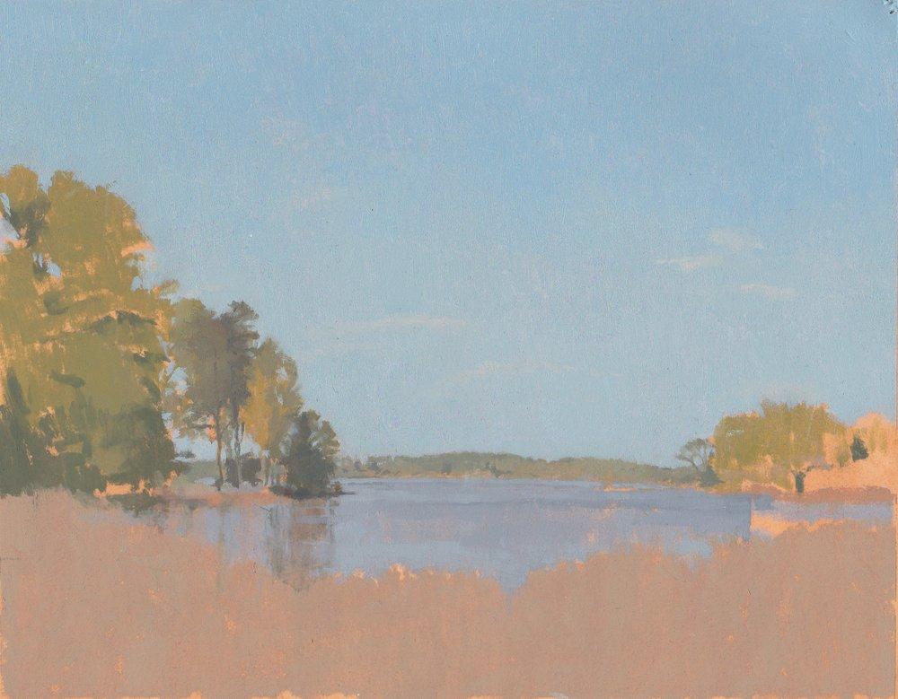 Harris Creek, Oil on Paper, 8%22x10%22.jpg