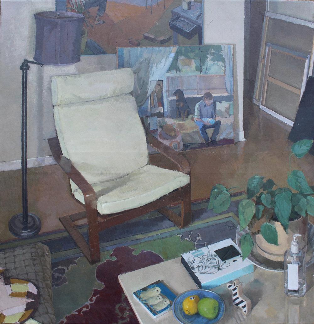 Still Life with a Figure, Oil on Linen, 40%22x38%22.jpg