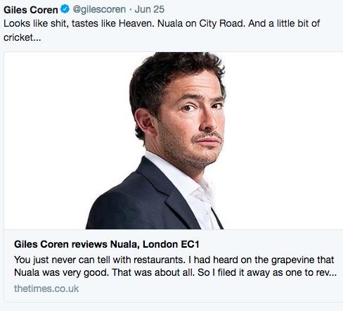 GILES COREN reviews Nuala for the Times