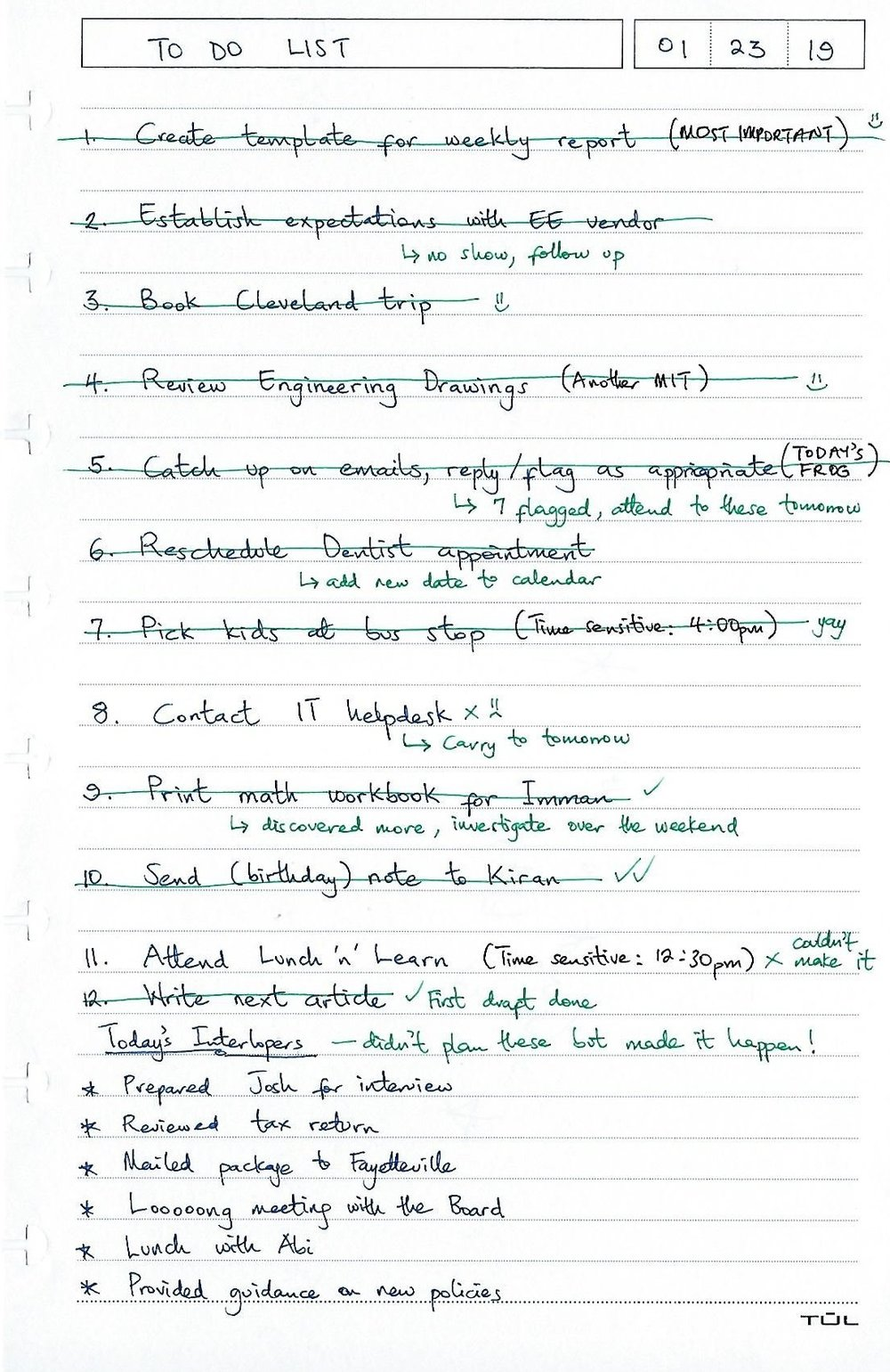 This is a made-up to-do list by me to illustrate the points covered below. Photo credit:  Michael Taiwo