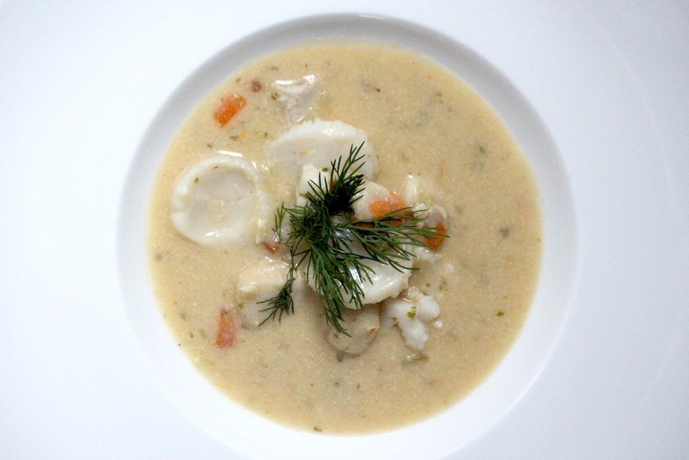 Spicy scallop chowder