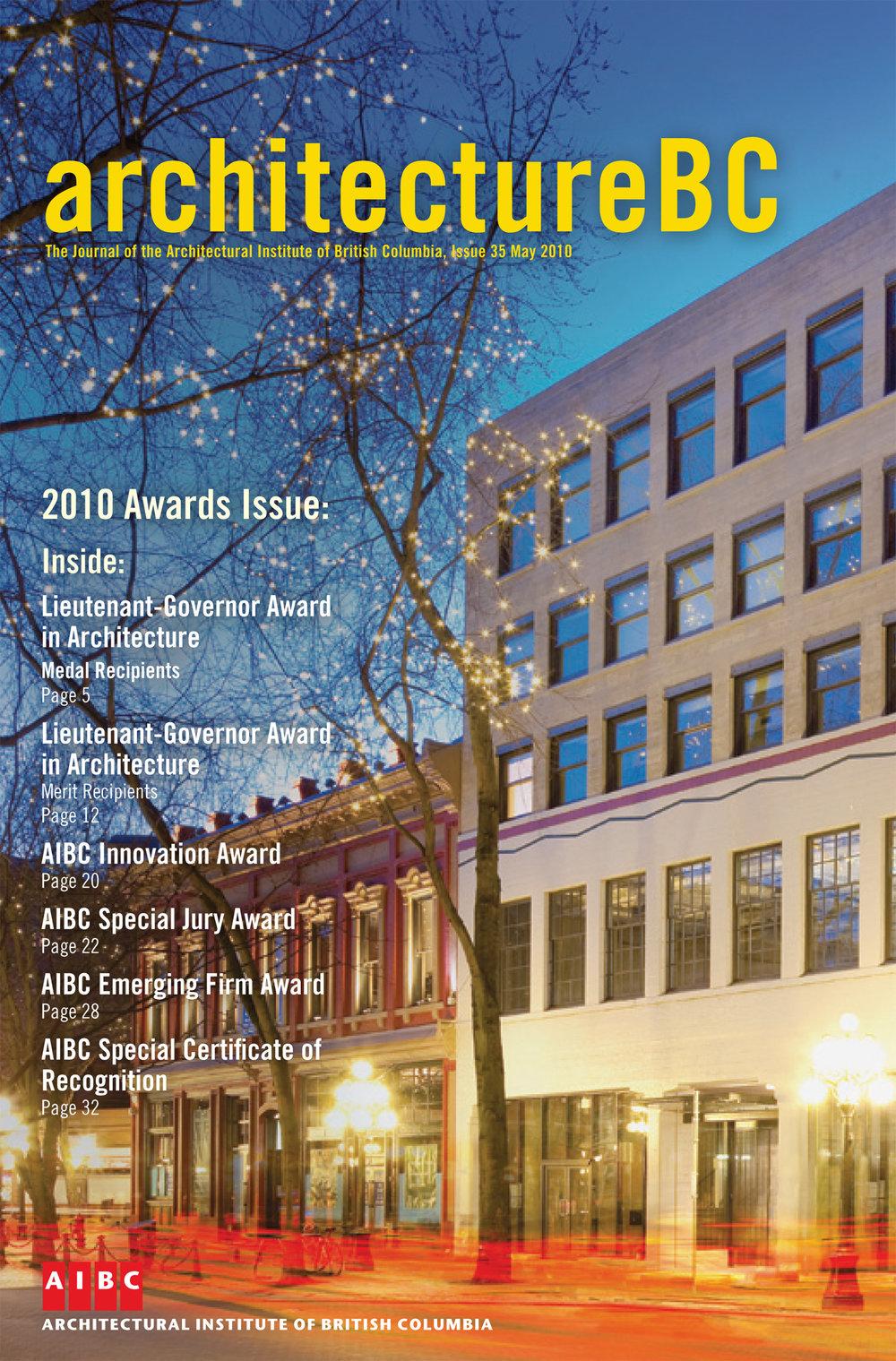 Rennie Gallery - Architecture Awards Magazine BC 2010 -