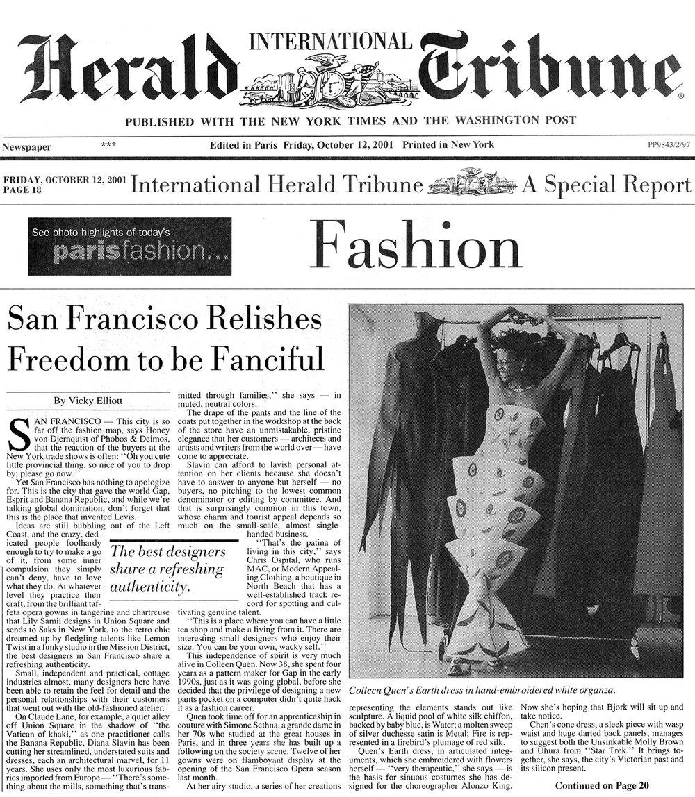 International Herald Tribune Oct 2001.jpg