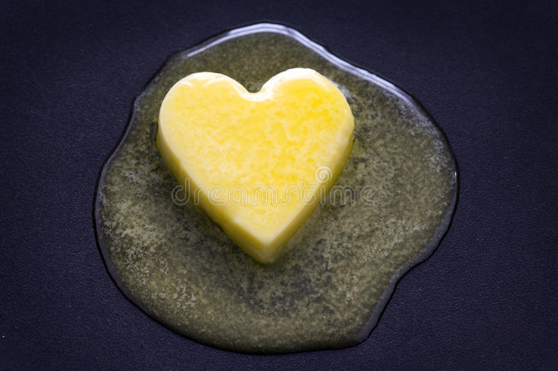 https://www.dreamstime.com/stock-photography-butter-heart-melting-image25451332
