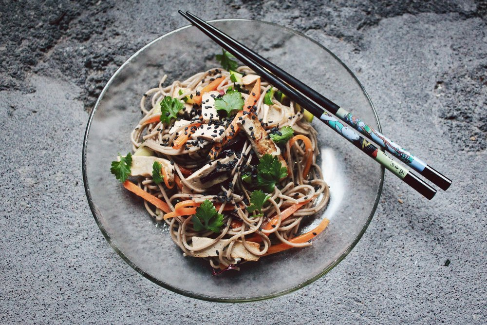 Vegetable Noodle-Tofu Stir-Fry - The Sinless Hoi