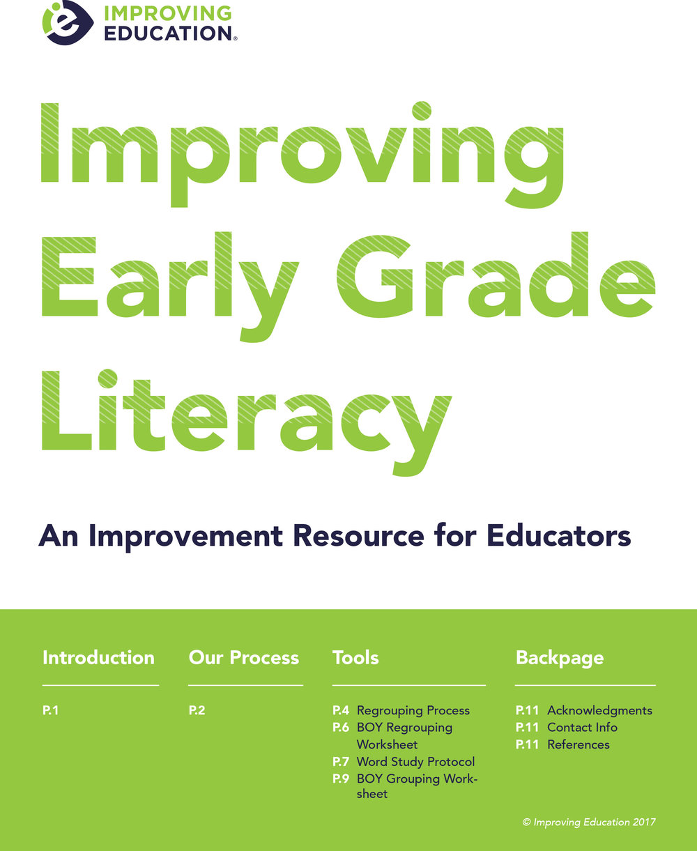 Learn more about our improvement work in schools, including tools and protocols that can be used to support student literacy growth.