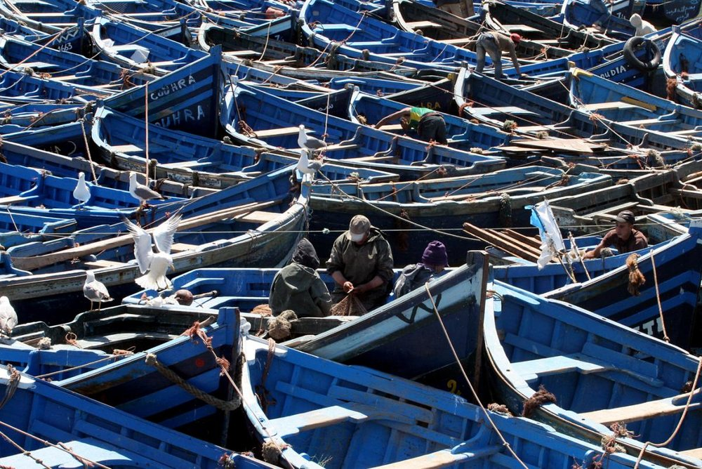 ARTISANAL MOROCCAN FISHING VESSELS CREDIT: Mike Markovina / MARINE PHOTOBANK