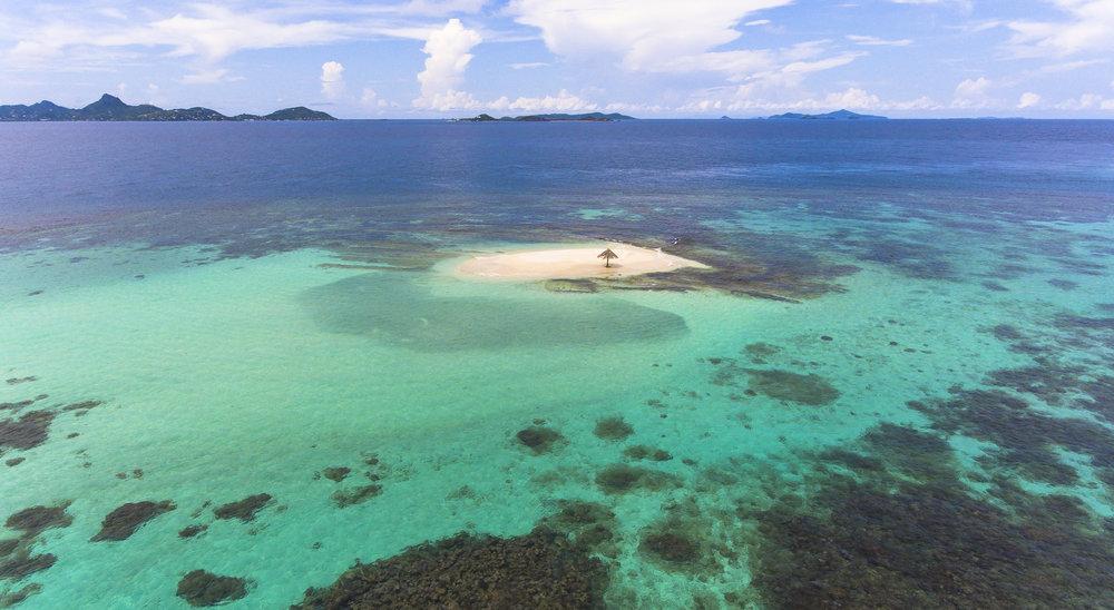Mopion Is (Grenadines credit: hugh whyte/ coral reef image bank