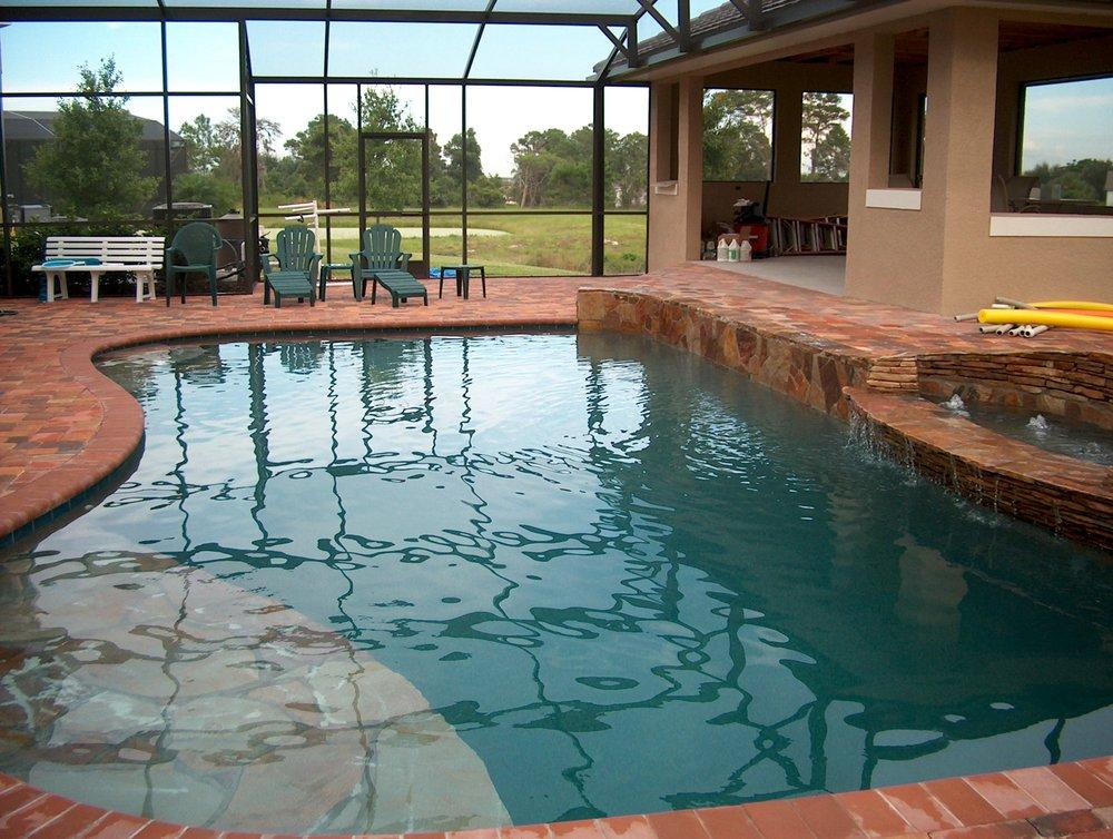Screened pool and patio