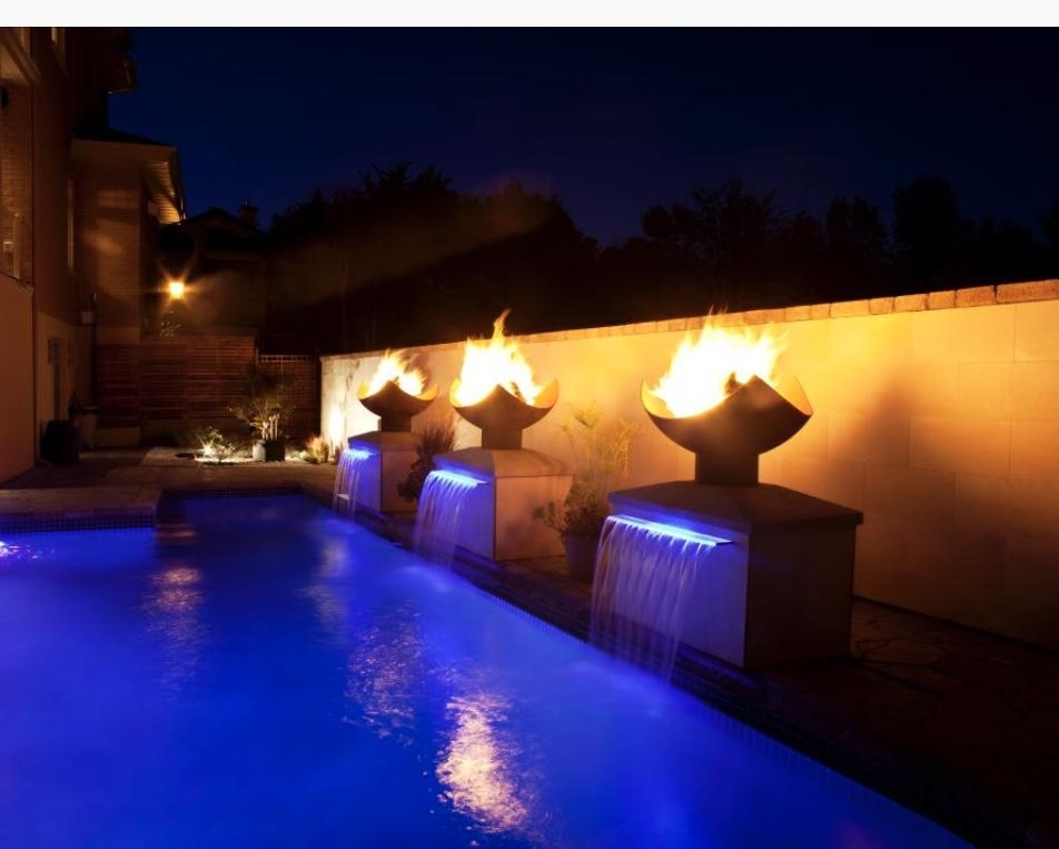 Gas Fire Bowls with Lava Rock