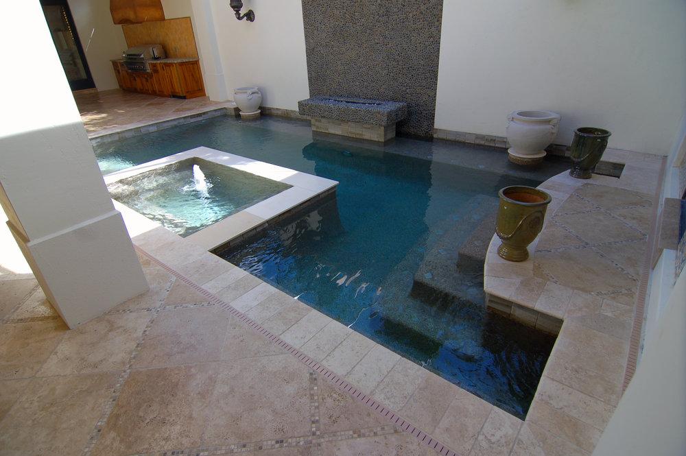 Modern Master Suite Outdoor Spa