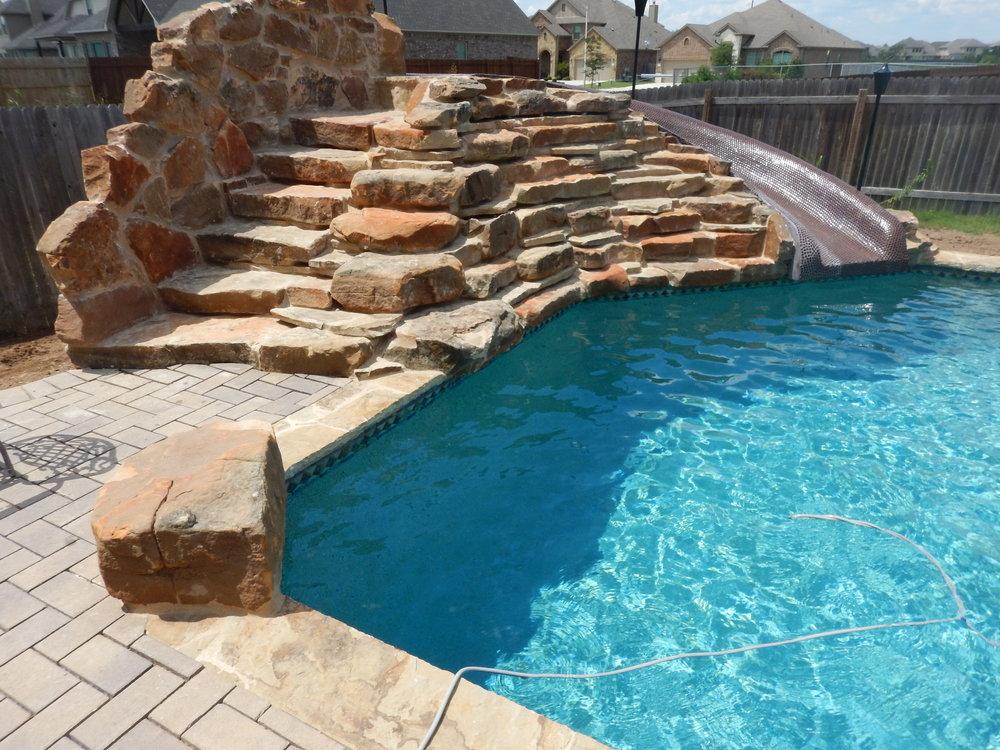 Rock slide with penny tile.JPG