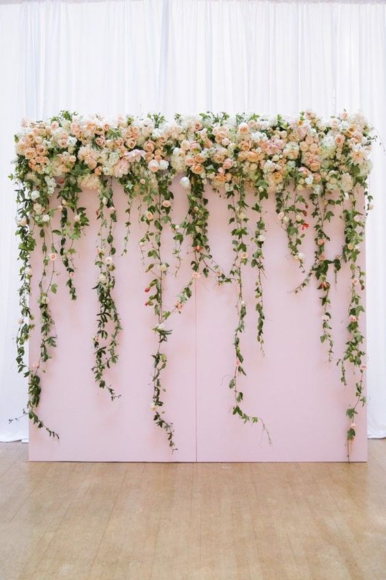 Abby & Becky wanted something similar to this as the floral backdrop for the ceremony at First Baptist Church.