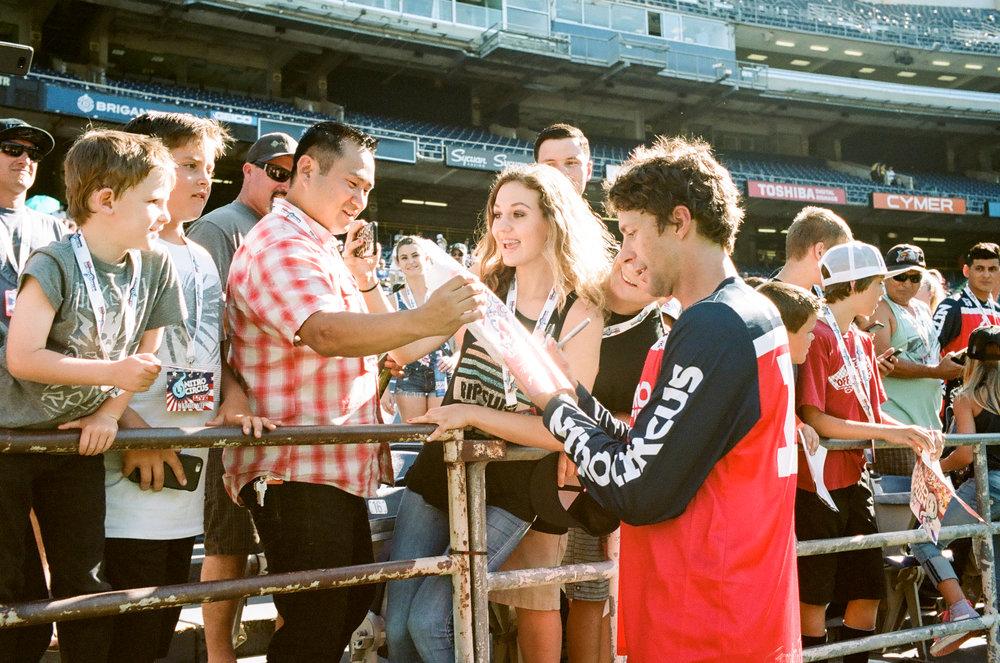 Travis Pastrana & Fans