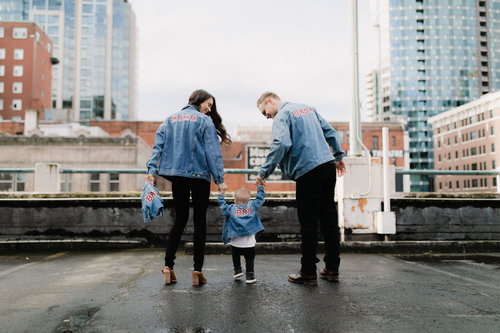 seattle rooftop family session