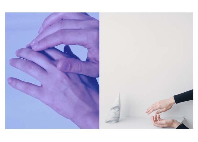 L: Tanya Lukin Linklater, Hands (2011) R: Celia Perrin Sidarous, Chorégraphie de la main et de l'objet (2014)