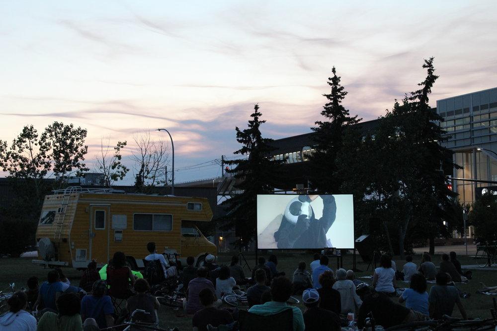 Ashely Bedet + Jessie Short, Strange Territory, CAMPER bike-in-cinema, 2017.