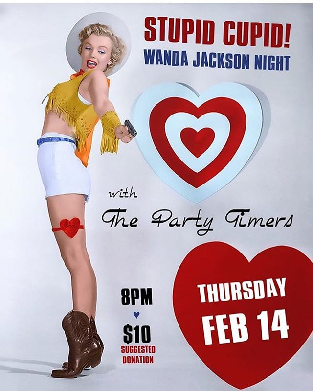 Join us at the WISE lounge tonight. We'll be sitting in with the Party timers for a night of Wanda Jackson hits. Pretty sure this hot night will melt the snow! . . #hotlickssweetkicks #stupidcupid #wandajackson #fujiyamamama #wiselounge #vancouvermusic