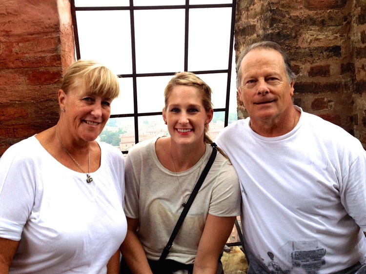 My parents and I in Bologna, Italy.