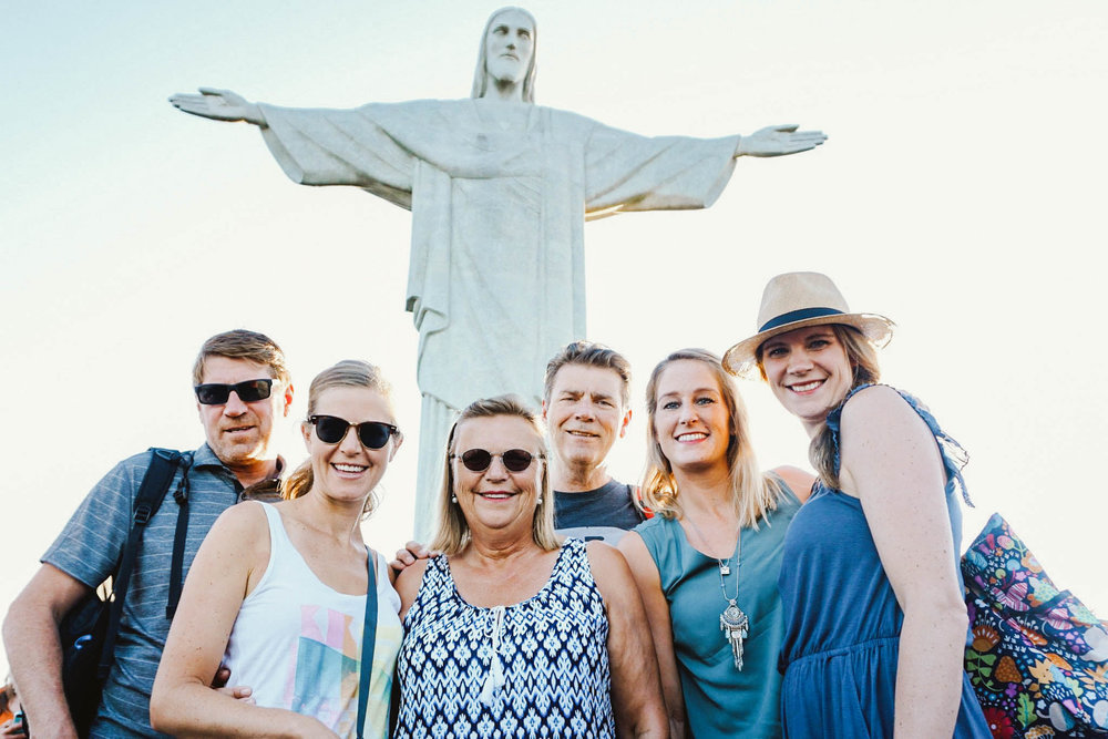 If you want an awesome photo with Christ the Redeemer, I suggest waking up at the crack of dawn to beat the crowds. That, or just be over 6 feet.