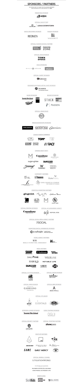 TOM* Fashion Week 2018 Sponsors