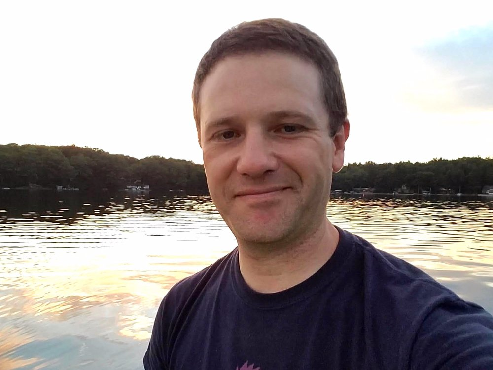 Mark Gathany on Big Twin Lake.