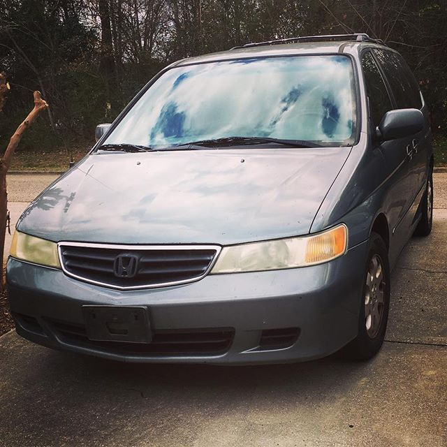 Cheers to 15 years of many 45 minute (and longer) road trips, hauled furniture and many memories. #sold #hondaodyssey