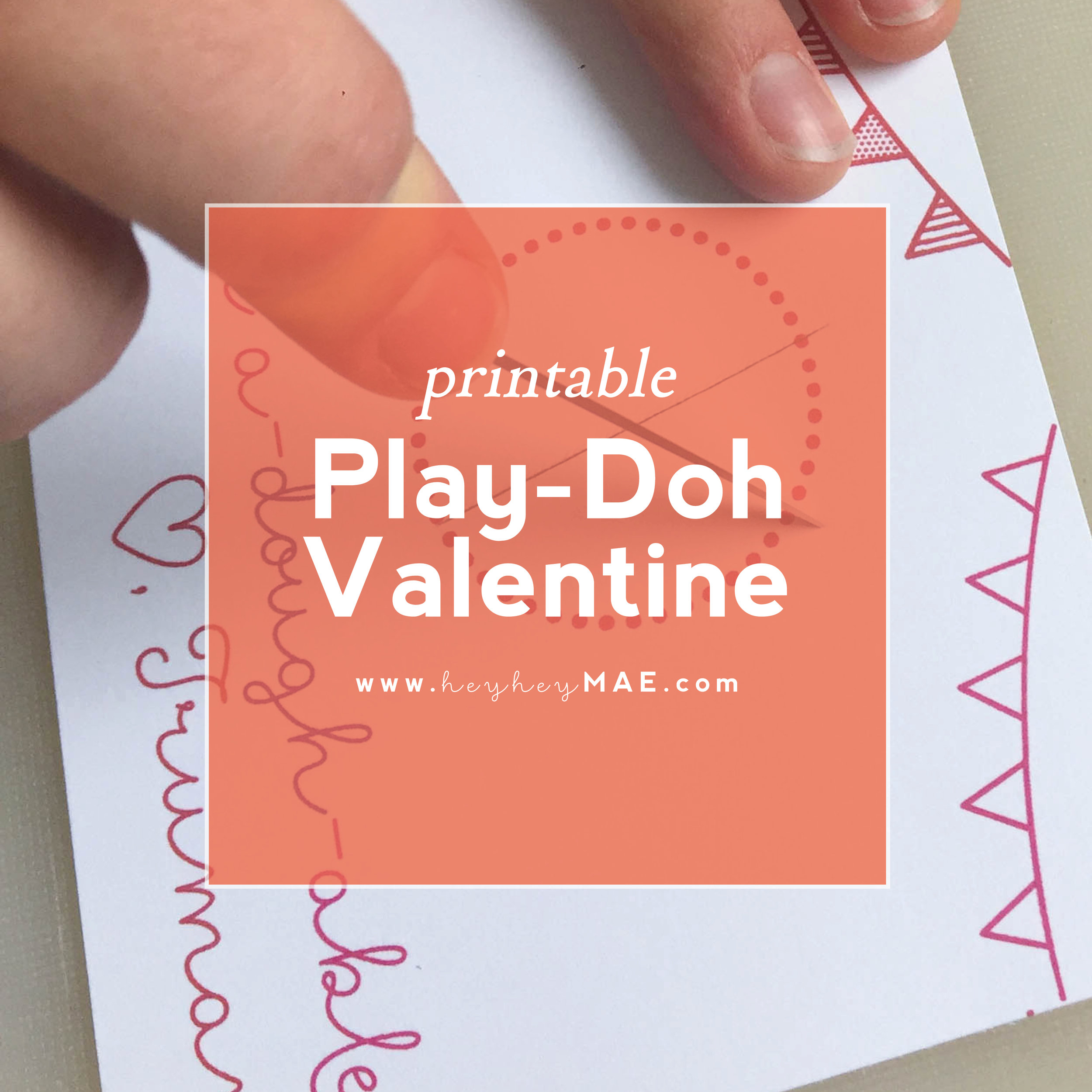 image relating to Play Doh Valentine Printable titled Enjoy-Doh Printable for remaining moment Valentines hey hey MAE
