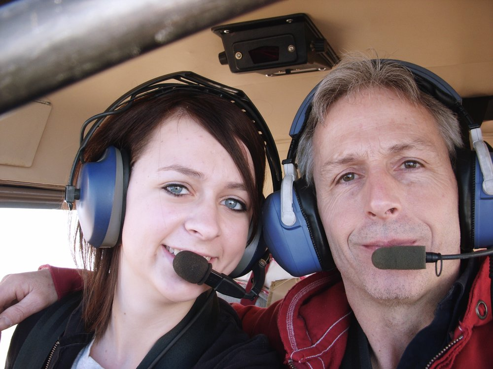 Kristin and her dad on one of their favorite trips together