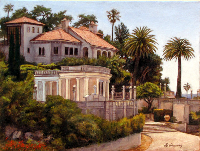 """""""View from China Hill""""   by Dennis Curry    One of the entrances to the famous Hearst Castle."""