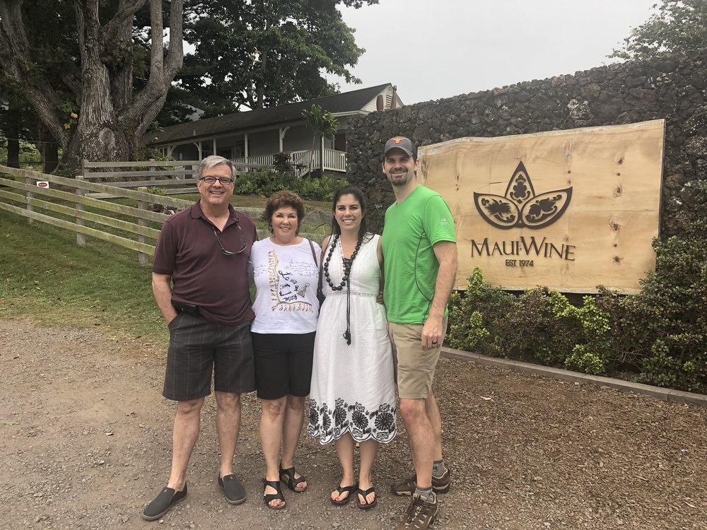 Family photo at Maui Wine