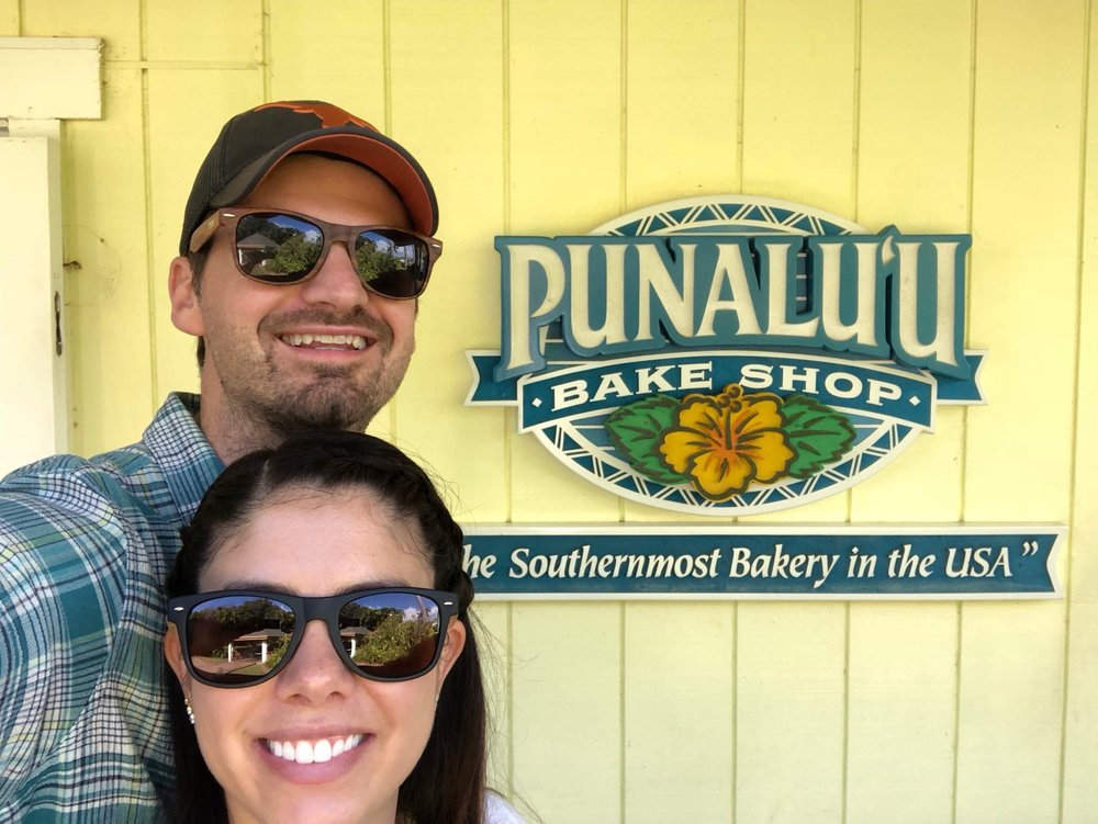 Matt and Kelly visit the Punalu'u Bake Shop - the southernmost bakery in the USA.